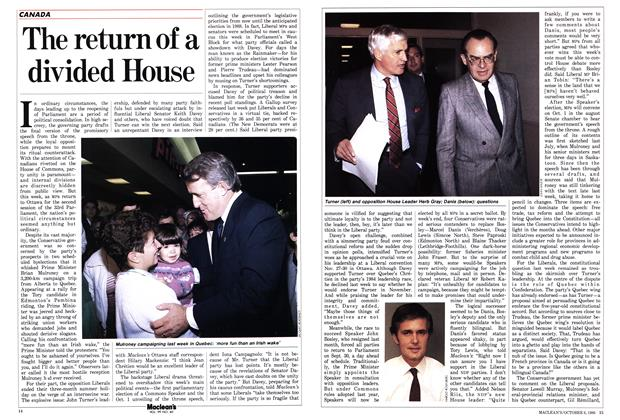 Article Preview: The return of a divided House, October 1986 | Maclean's