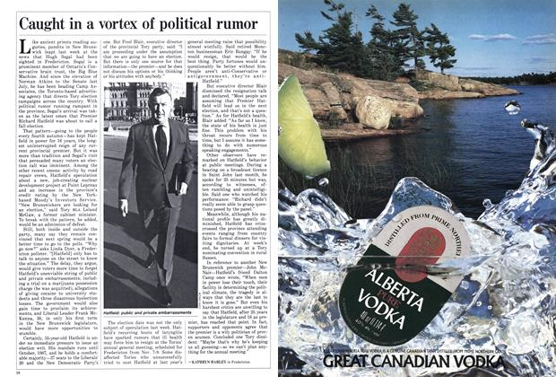Article Preview: Caught in a vortex of political rumor, October 1986 | Maclean's