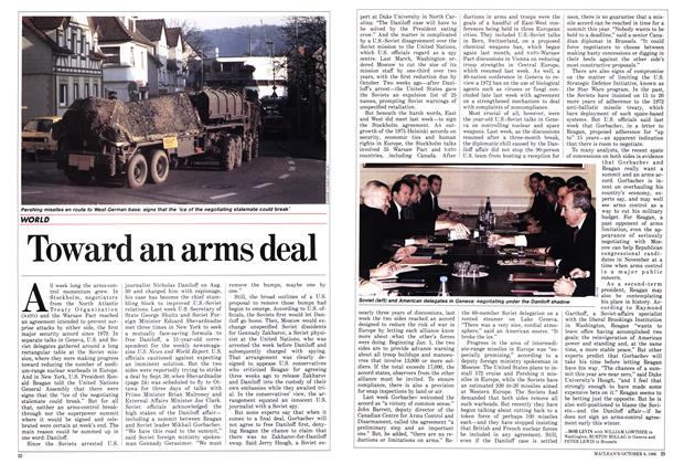 Article Preview: Toward an arms deal, October 1986 | Maclean's