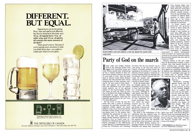 Article Preview: Party of God on the march, October 1986 | Maclean's