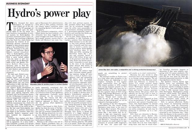 Article Preview: Hydro's power play, October 1986 | Maclean's