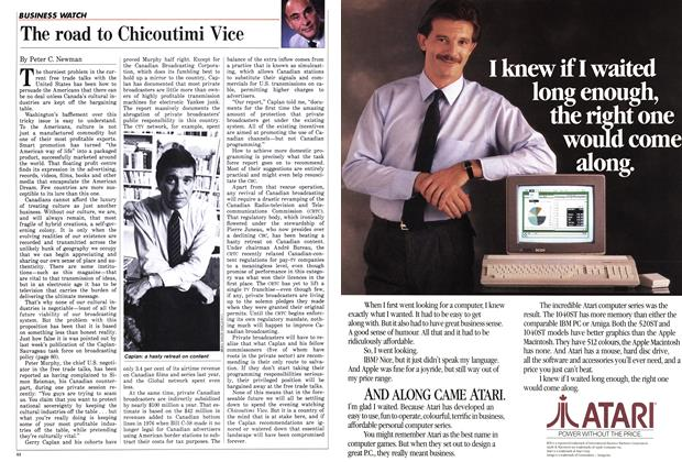 Article Preview: The road to Chicoutimi Vice, October 1986 | Maclean's
