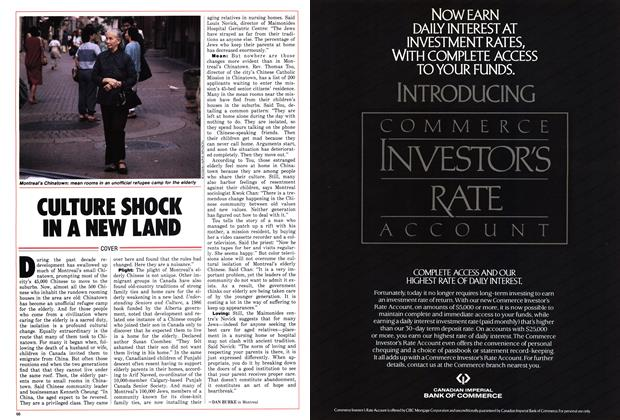 Article Preview: CULTURE SHOCK IN A NEW LAND, October 1986   Maclean's