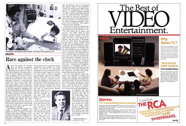 Article Preview: Race against the clock, October 1986 | Maclean's