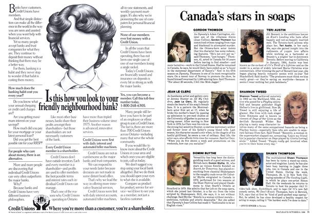 Article Preview: Canada's stars in soaps, October 1986 | Maclean's