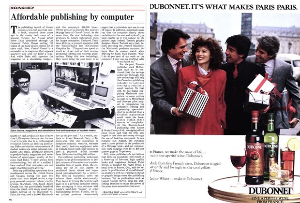 Article Preview: Affordable publishing by computer, October 1986 | Maclean's