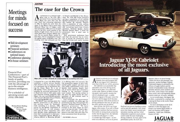 Article Preview: The case for the Crown, October 1986 | Maclean's