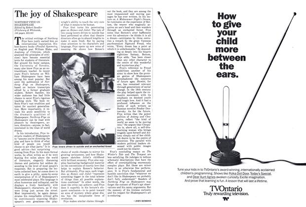 Article Preview: The joy of Shakespeare, October 1986 | Maclean's