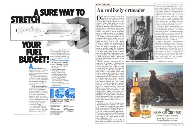 Article Preview: An unlikely crusader, October 1986 | Maclean's