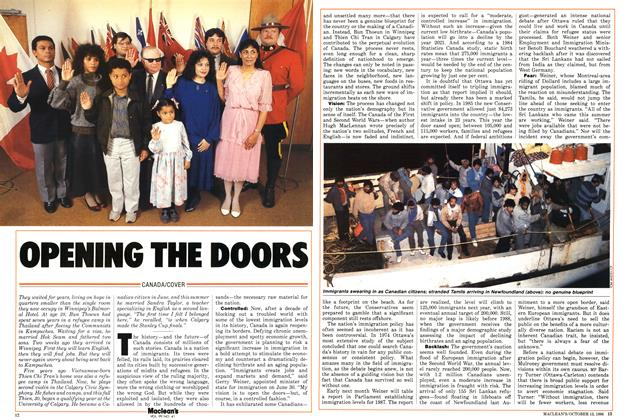 Article Preview: OPENING THE DOORS, October 1986 | Maclean's