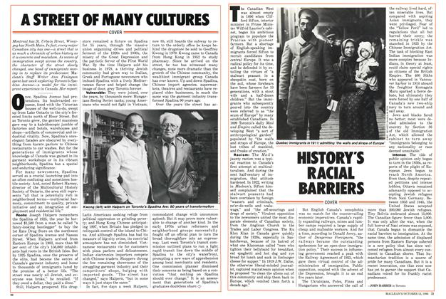 Article Preview: HISTORY'S RACIAL BARRIERS, October 1986 | Maclean's
