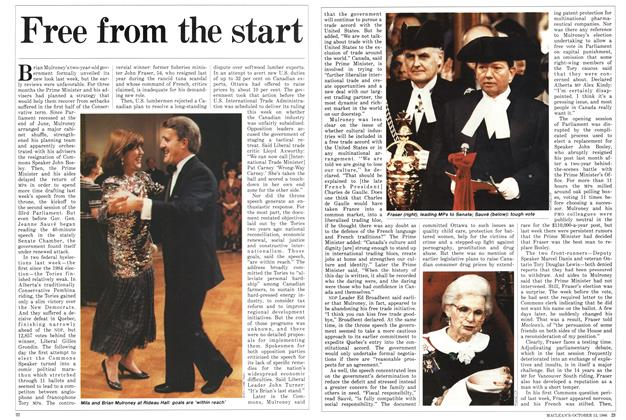 Article Preview: Free from the start, October 1986 | Maclean's