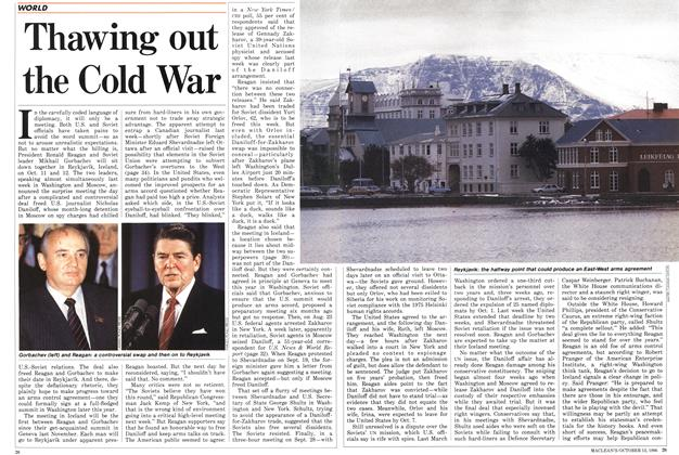 Article Preview: Thawing out the Cold War, October 1986 | Maclean's