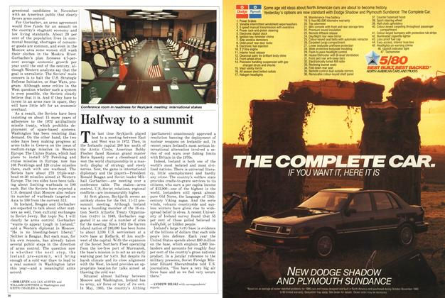 Article Preview: Halfway to a summit, October 1986 | Maclean's