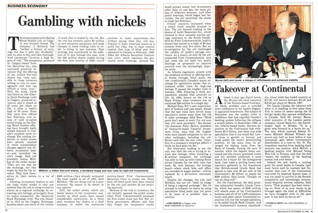 Article Preview: Gambling with nickels, October 1986 | Maclean's