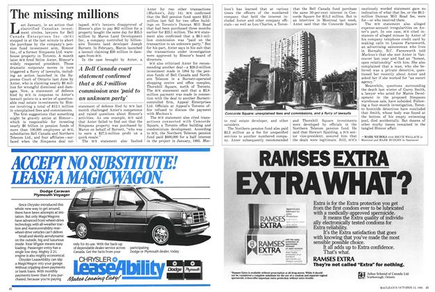 Article Preview: The missing millions, October 1986 | Maclean's