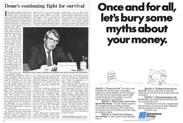 Article Preview: Dome's continuing fight for survival, October 1986 | Maclean's