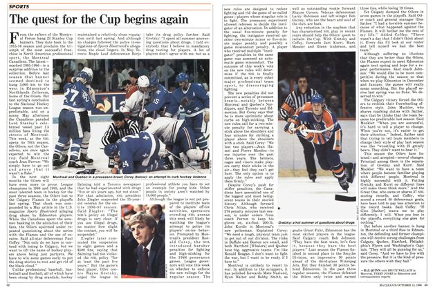Article Preview: The quest for the Cup begins again, October 1986 | Maclean's