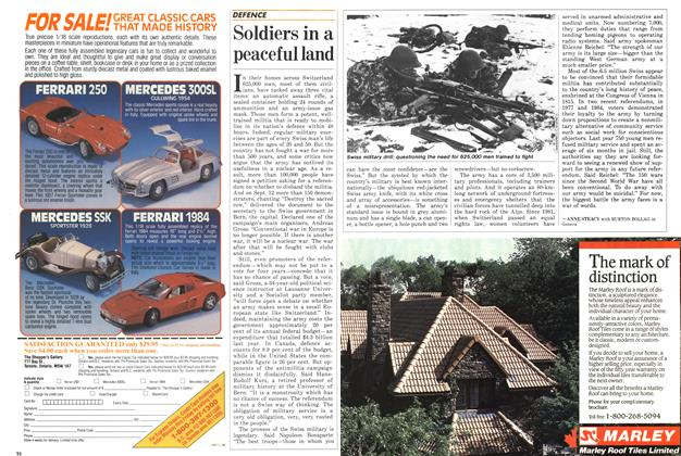 Article Preview: Soldiers in a peaceful land, October 1986   Maclean's