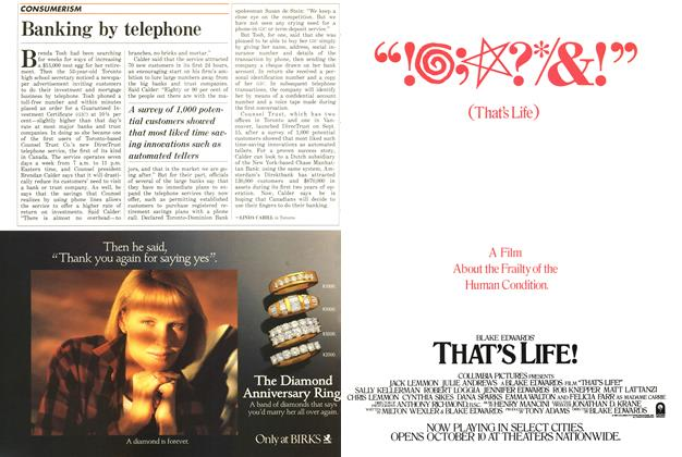 Article Preview: Banking by telephone, October 1986 | Maclean's