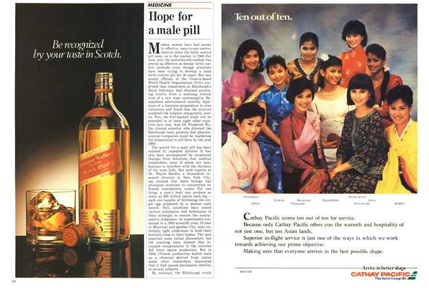 Article Preview: Hope for a male pill, October 1986 | Maclean's