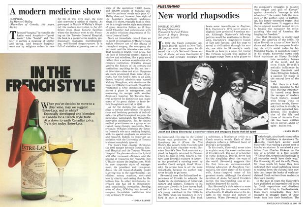 Article Preview: New world rhapsodies, October 1986 | Maclean's