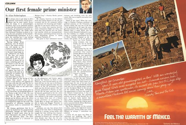 Article Preview: Our first female prime minister, October 1986 | Maclean's