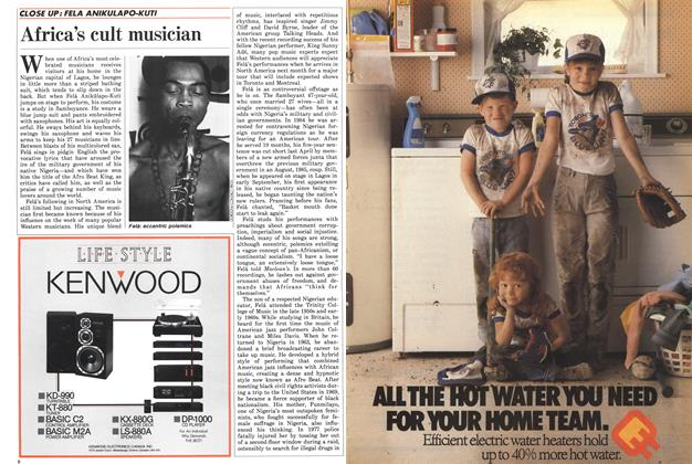 Article Preview: Africa's cult musician, October 1986 | Maclean's