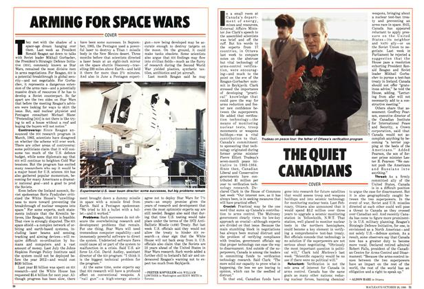 Article Preview: ARMING FOR SPACE WARS, October 1986 | Maclean's
