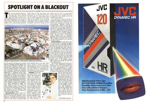 Article Preview: SPOTLIGHT ON A BLACKOUT, October 1986 | Maclean's
