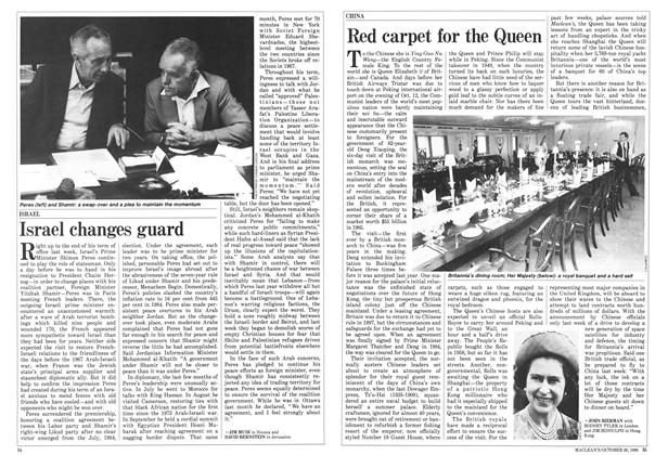 Article Preview: Red carpet for the Queen, October 1986 | Maclean's