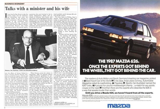 Article Preview: Talks with a minister and his wife, October 1986 | Maclean's