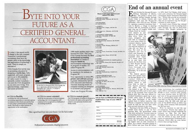 Article Preview: End of an annual event, October 1986 | Maclean's