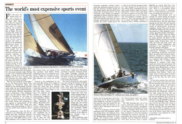 Article Preview: The world's most expensive sports event, October 1986 | Maclean's