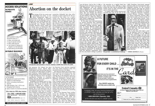 Article Preview: Abortion on the docket, October 1986 | Maclean's