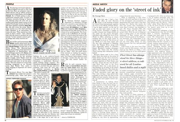 Article Preview: Faded glory on the 'street of ink', October 1986 | Maclean's
