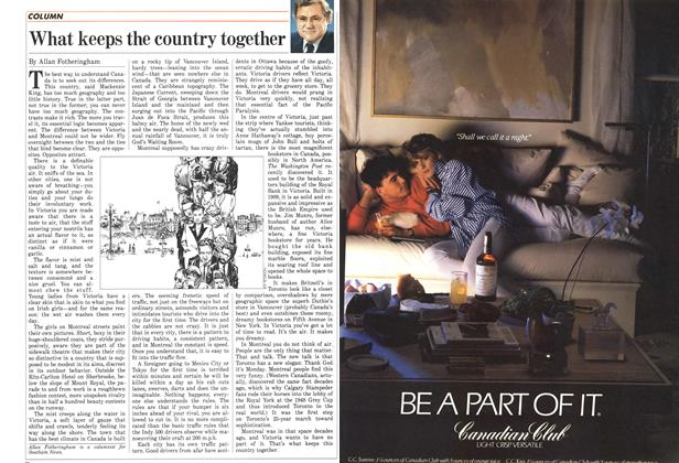 Article Preview: What keeps the country together, October 1986   Maclean's