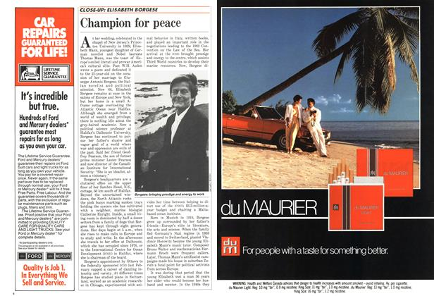 Article Preview: Champion for peace, October 1986 | Maclean's