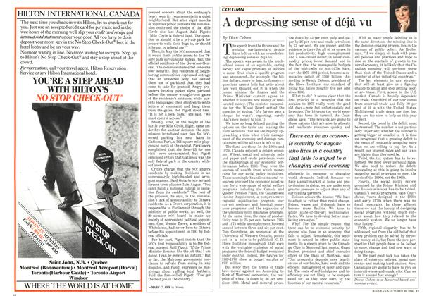 Article Preview: A depressing sense of déjà vu, October 1986 | Maclean's