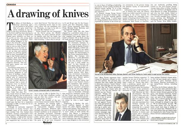Article Preview: A drawing of knives, October 1986 | Maclean's