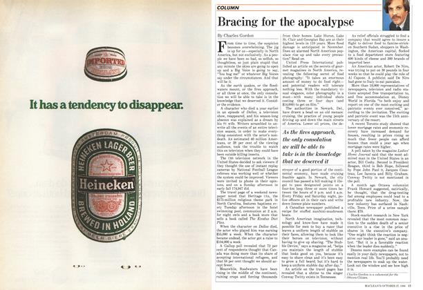 Article Preview: Bracing for the apocalypse, October 1986 | Maclean's