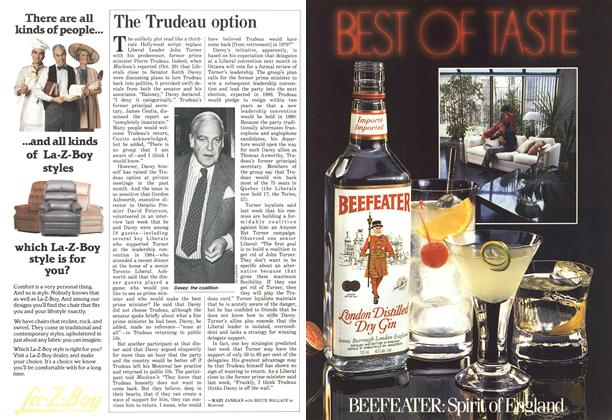 Article Preview: The Trudeau option, October 1986 | Maclean's