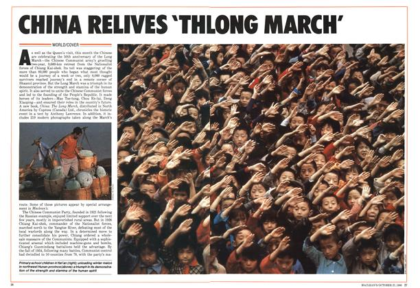 Article Preview: CHINA RELIVES 'THE LONG MARCH', October 1986 | Maclean's