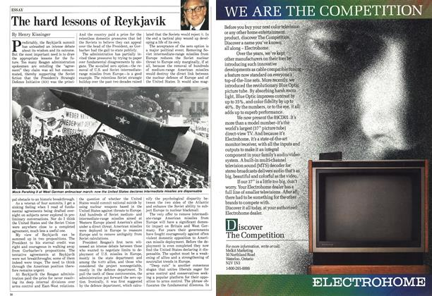 Article Preview: The hard lessons of Reykjavik, October 1986 | Maclean's