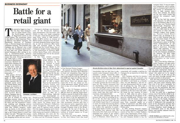 Article Preview: Battle for a retail giant, October 1986 | Maclean's