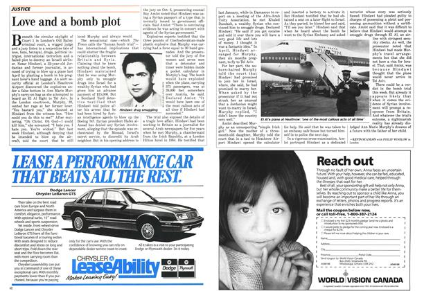 Article Preview: Love and a bomb plot, October 1986 | Maclean's