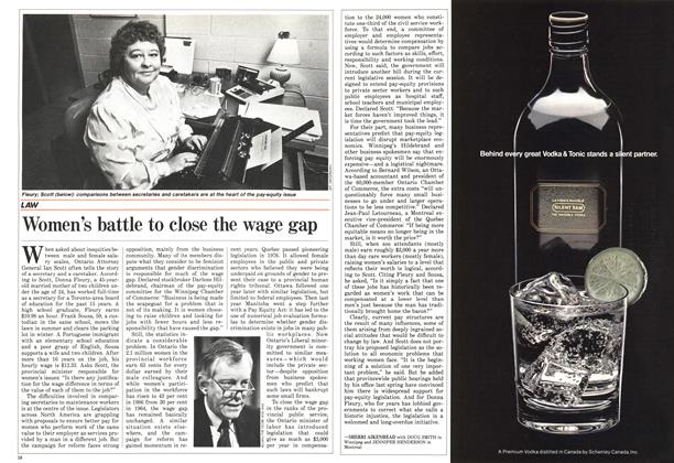 Article Preview: Women's battle to close the wage gap, October 1986 | Maclean's