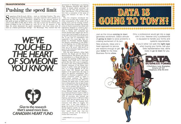 Article Preview: Pushing the speed limit, October 1986 | Maclean's