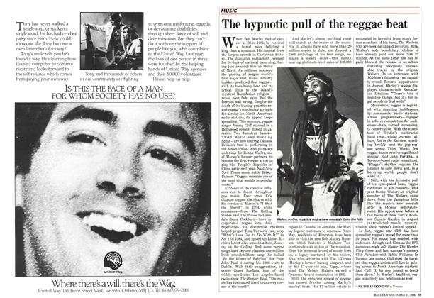Article Preview: The hypnotic pull of the reggae beat, October 1986 | Maclean's
