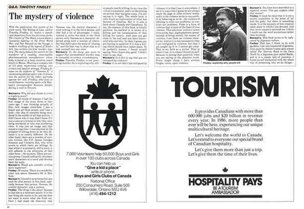 Article Preview: The mystery of violence, October 1986   Maclean's